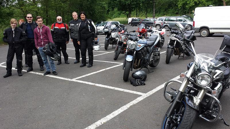 Ende der Tour: Büdingen Grillplatz